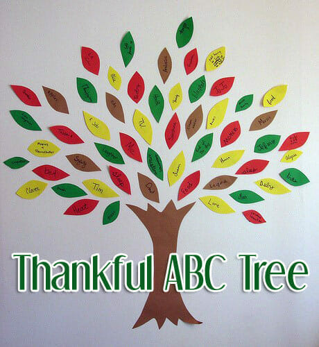 """Thankful ABC Tree"": A Thanksgiving Craft of Gratitude"
