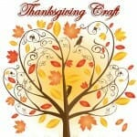 """Thankful Tree Placemat"" Thanksgiving Craft"