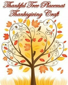 thankful-tree-placemat-thanksgiving craft