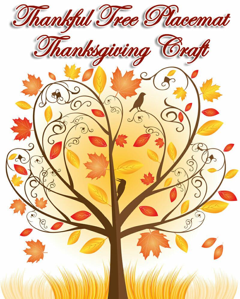 thankful-tree-placemat-thanksgiving craft