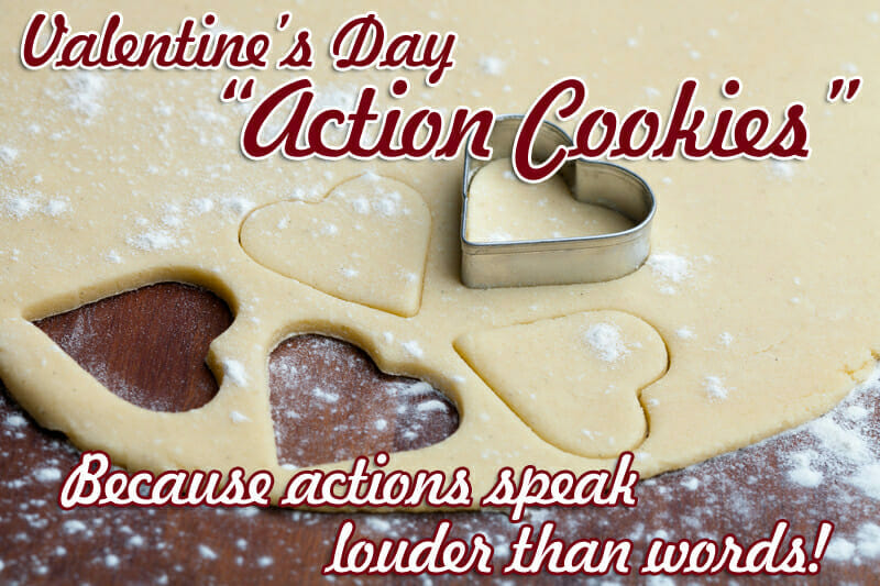 valentines day action cookies
