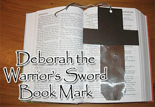 """""""Deborah The Warrior's Sword"""" Bookmark Craft"""