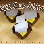 egg cup ships bible craft