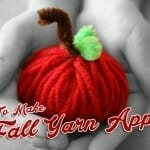 fall yarn apples2 fall bible craft