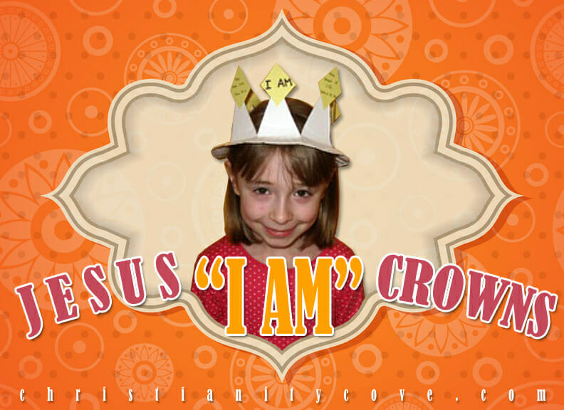 jesus i am crowns bible craft