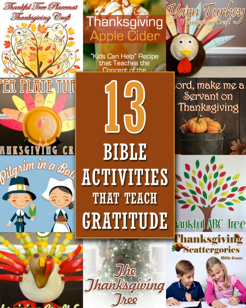 thanksgiving bible activities that teach gratitude