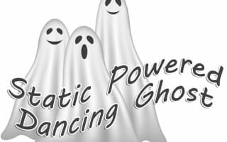 static powered dancing ghosts science project