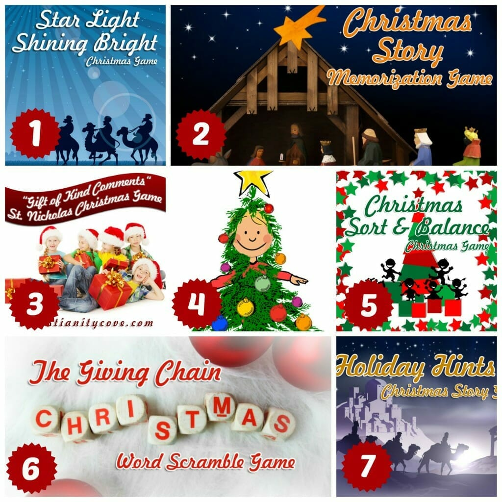 christmas bible activities games