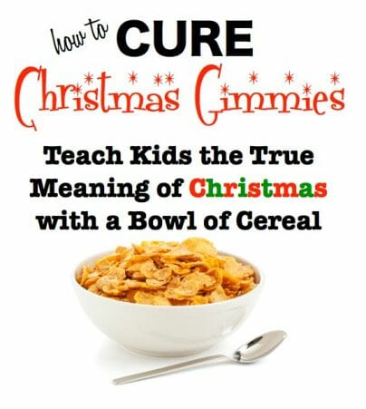 How To Cure The Christmas Gimmies Christmas Lesson