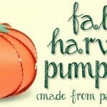 Fall Harvest Pumpkins Craft (made from Paper Strips!)