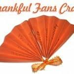Thanksgiving Craft: Thankful Fans