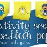 nativity scene balloon pop christmas bible game