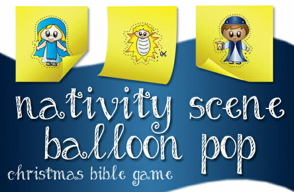 """Nativity Scene Balloon Pop"" Christmas Bible Game"