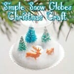 """Using-What's-Available"" Snow Globe Christmas Craft"