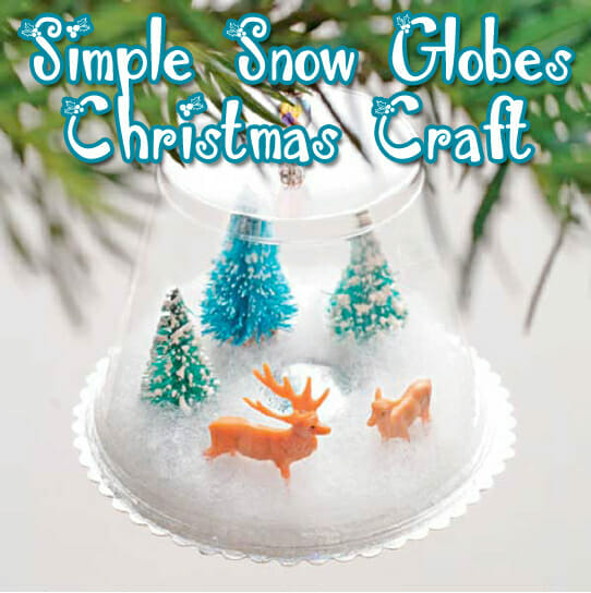 """""""Using-What's-Available"""" Snow Globe Christmas Craft"""