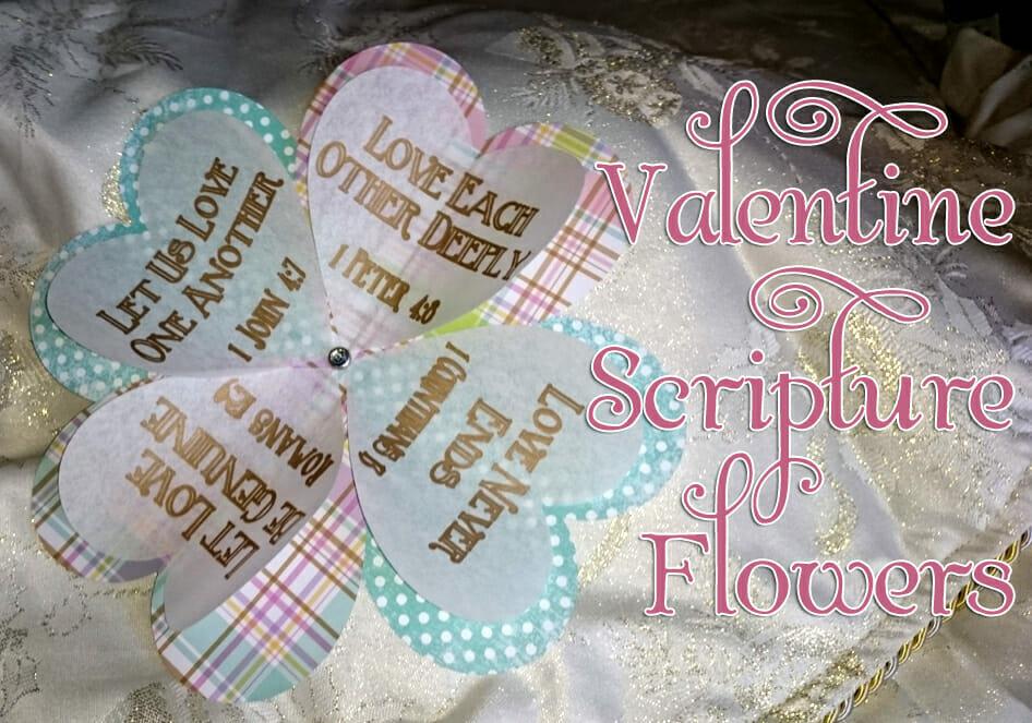 valentine scripture flowers valentines day craft