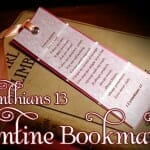 Valentines Day Craft: 1 Corinthians 13 Valentine Bookmarks