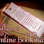Valentines Day Craft: 1 Corinthians 13 Valentine Bookmarks