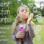 every action bubble science experiment