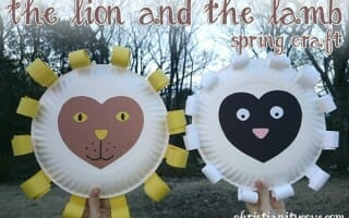 lion and lamb spring bible craft 3