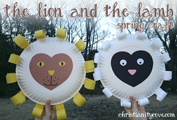"""The Lion and the Lamb"" Bible Craft & The 2 Sides of Jesus"