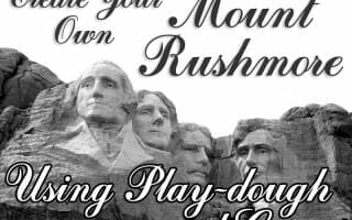 Create Your Own Mount Rushmore (Presidents Day Craft)