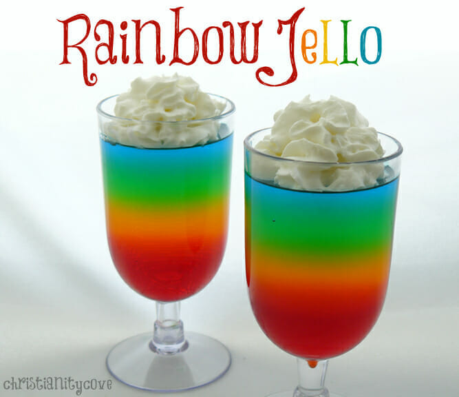 Rainbow Jello Bible Snack & A Lesson in God's Faithfulness