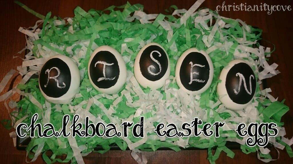 chalkboard easter egg decoration idea