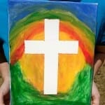 Cross Canvas Painting (Sunday School Craft)