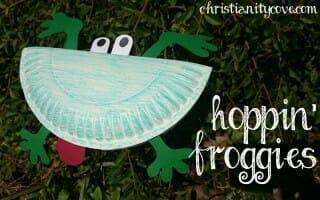 hoppin froggies spring craft