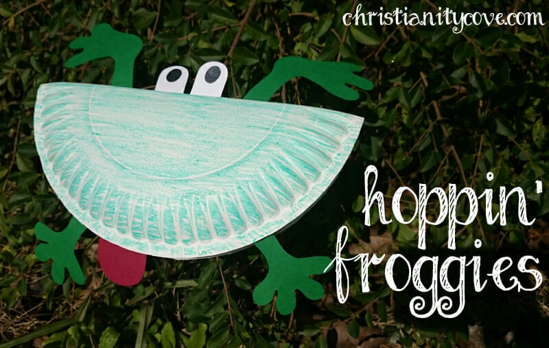 hoppin froggies spring craft