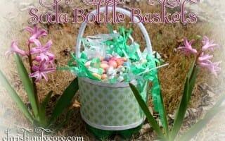 soda bottle baskets easter craft