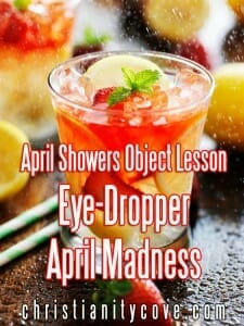 april showers object lesson