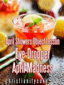 april showers object lesson