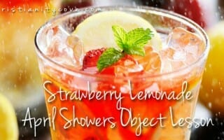 April Showers Object Lesson: Eye-Dropper April Madness & Strawberry Lemonade