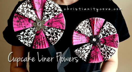 cupcake liner flowers 2
