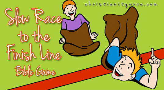 Summer Bible Game: Slow Race to the Finish Line