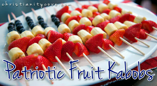 Patriotic Fruit Kabobs from Christianity Cove