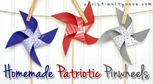 homemade patriotic pinwheels