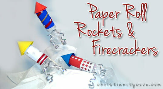 Patriotic Craft: Paper Roll Rockets & Firecrackers