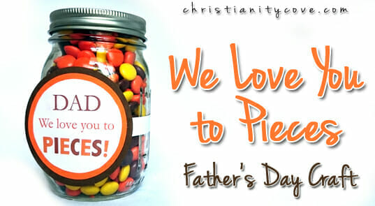 Father's Day Ideas - Candy Jar Craft