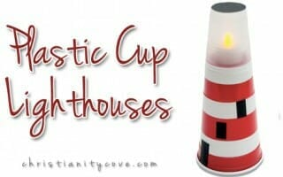 Plastic Cup Lighthouse Craft