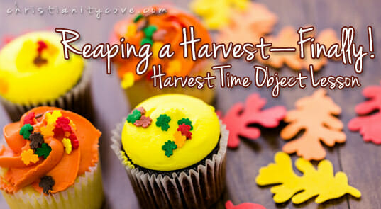 Harvest Time Object Lesson:Reaping a Harvest – Finally!