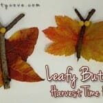 Harvest Time Fall Craft: Leafy Butterflies