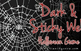 """Dark & Sticky Web"" Halloween Game"