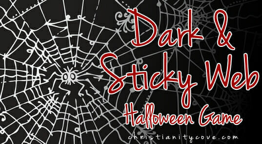 """Dark & Sticky Web"" Halloween Game"