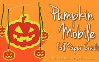 Fall Pumpkin Craft: Pumpkin Mobile