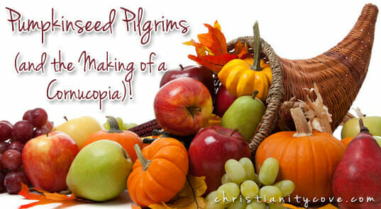Pumpkinseed Pilgrims (and the Making of a Cornucopia)!