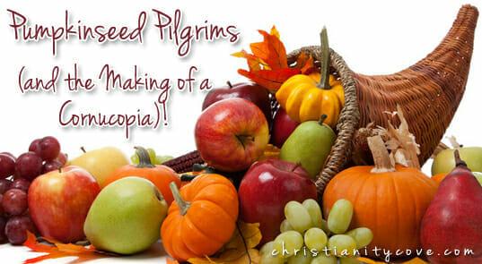 Pumpkinseed Pilgrims (and the Making of a Cornucopia)!