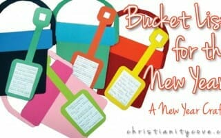 Bucket List for the New Year!  A New Year Craft